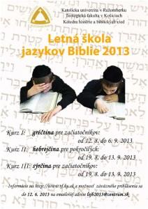 Letná škola jazykov Biblie 2013
