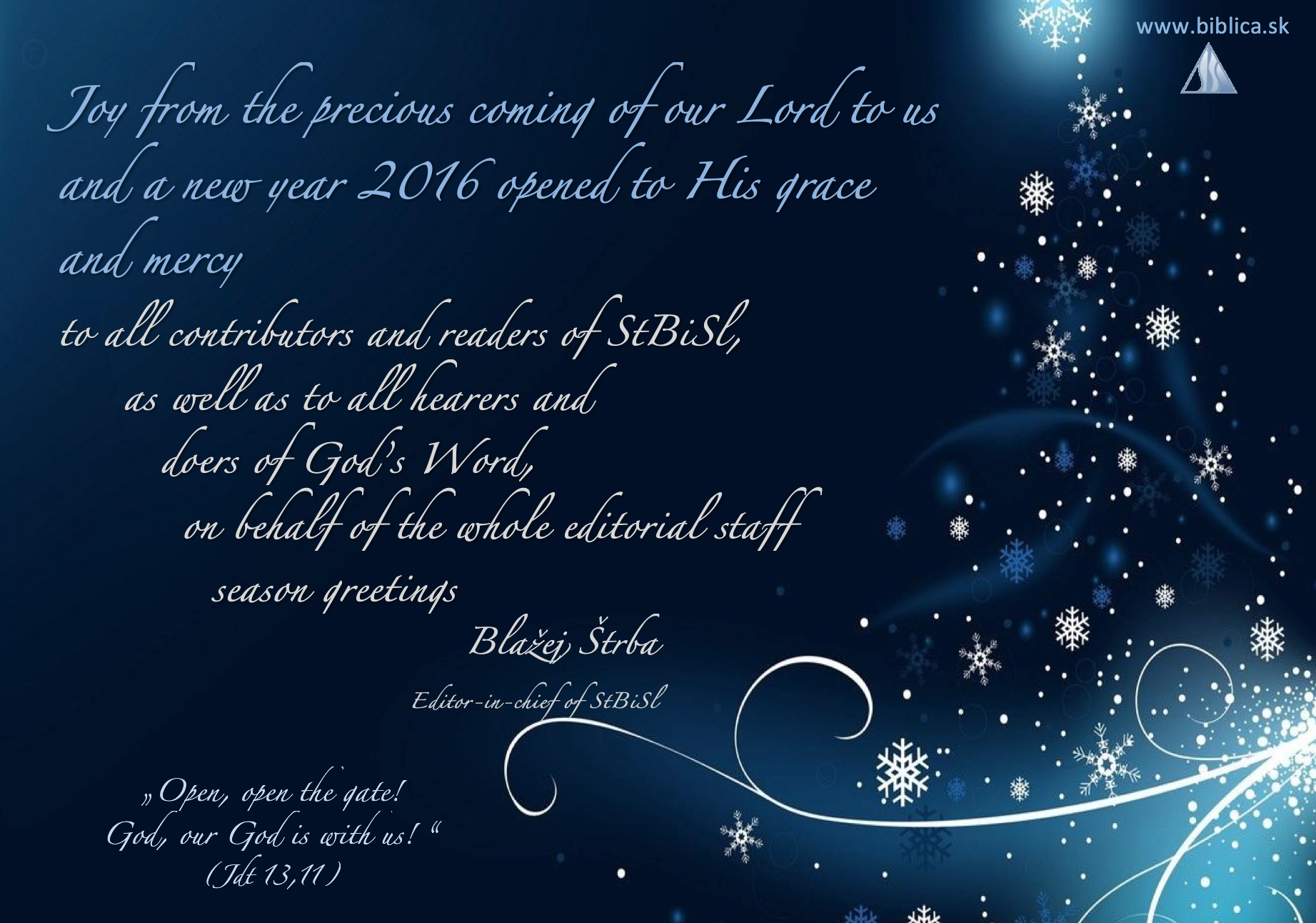 Christmas greeting 2015