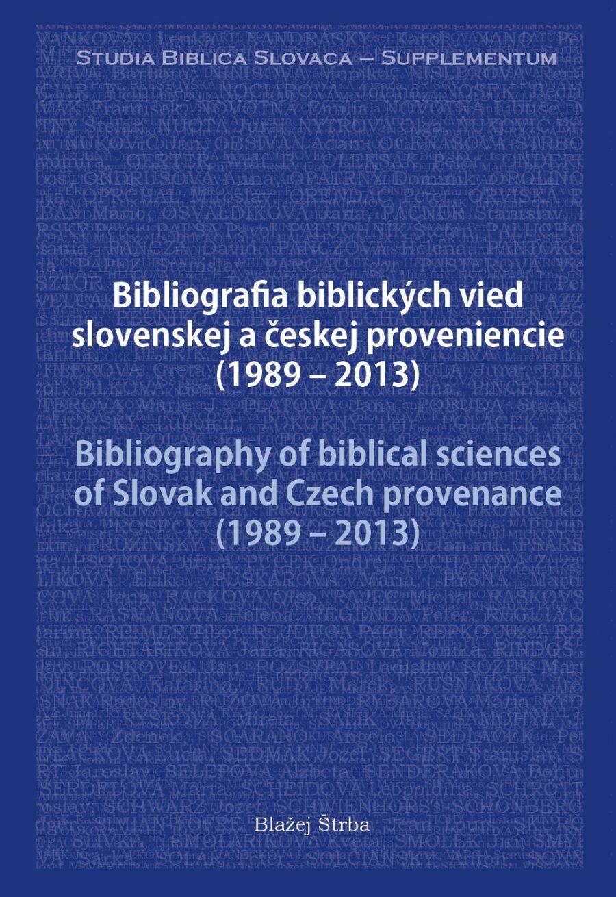 Štrba, Bibliografia biblických vied