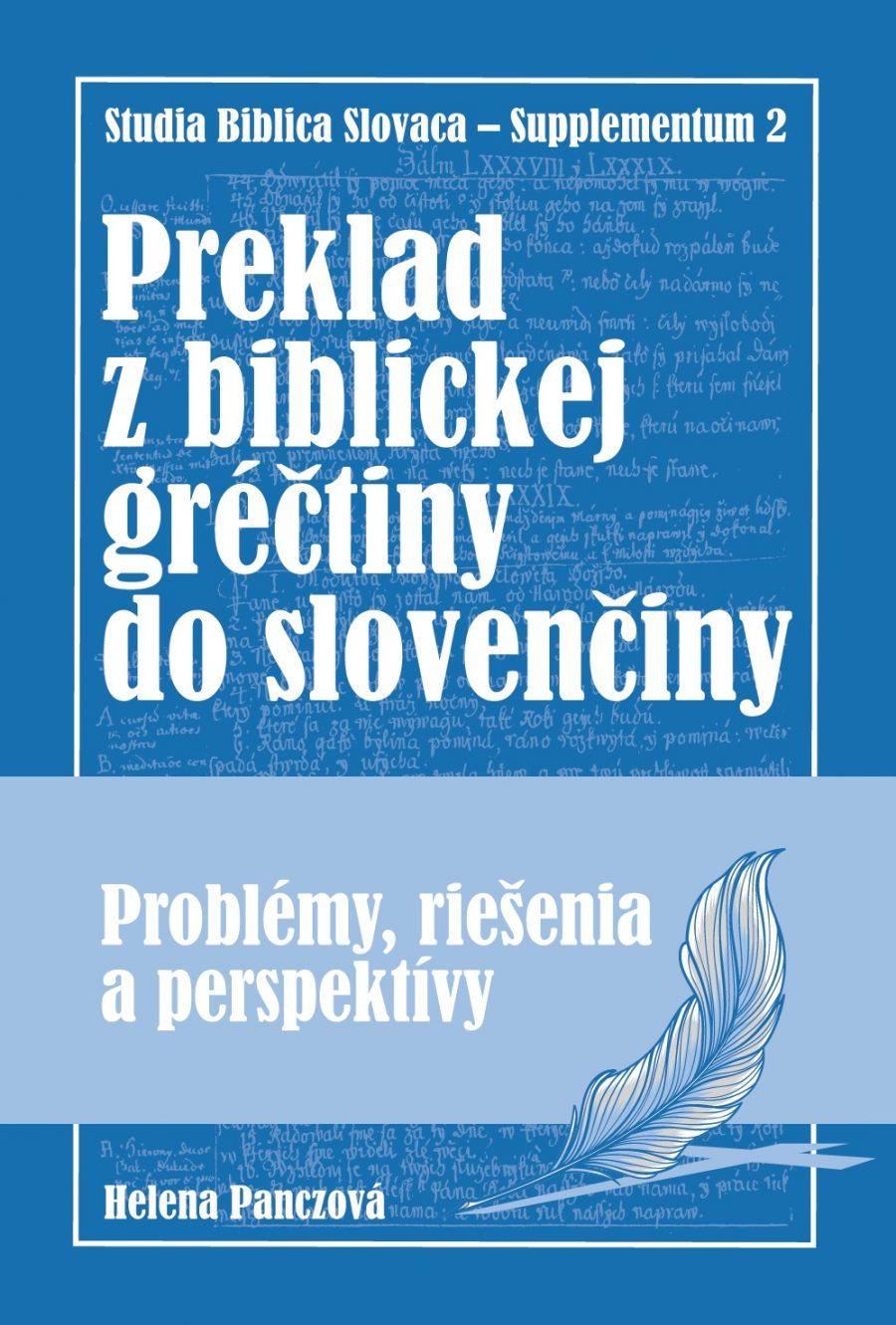 Panczová, Predklad z biblickej gréčtiny do slovenčiny